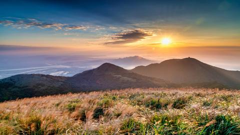 台北-陽明山竹子湖,小油坑,擎天岡,士林官邸  包車一日遊