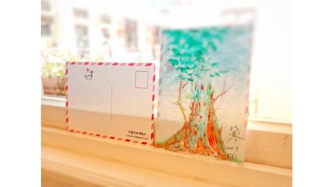 台中-心內畫 心像明信片| 彩繪DIY課程